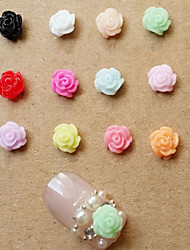 10pcs Nail DIY Camellia Jewelry Nail Tools