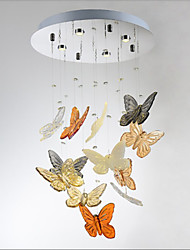 Crystal Lamp LED Circular Living Room Butterfly Crystal Lamp 4