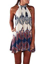 Women's Sexy Beach Casual Party Print Mini Dress