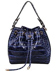 Women PU Baguette Shoulder Bag - White / Blue