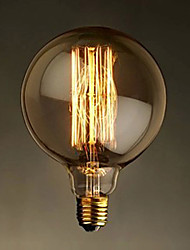 E27 40W G125 Straight Wire Large Bulb Bulb Edison Retro Decorative Light Bulbs