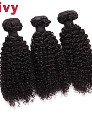 """vivy 8 """"-30"""" 3 faisceaux Kinky bouclés # 1B brésiliens extensions de cheveux de remy hair armure brésilienne vierge de cheveux humains"""