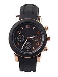 squisita moda mens silicone Black Watch