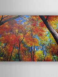 Oil Painting Landscape  Red Trees Hand Painted Canvas with Stretched Framed Ready to Hang