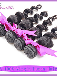 Natural Color Hair Weaves Peruvian Texture Loose Wave 6 Months 3 Pieces hair weaves