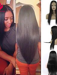 12-28inch 100% colore naturale parrucca piena del merletto non trasformati vergine peruviano di seta i capelli lisci