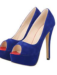 Women's Shoes Fabric Stiletto Heel Heels / Peep Toe / Platform / Open Toe Heels Party & Evening / Dress