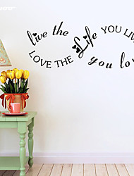 AWOO®  Live Love  Wall Sticker DIY Home Decorations Quotes Vinyl Wall Decals Wall Mural Art