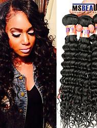 """3 unidades / lote 8 """"-28"""" 8a profunda onda cabelo virgem peruano cabelo de trama 100% cabelo humano remy não transformados tece"""
