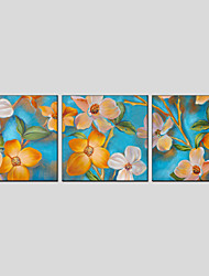 Oil Paintings Flower Style  Canvas Material with Stretched Frame Ready To Hang Size 70*70*3PCS