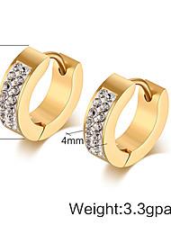 Earring Stud Earrings / Drop Earrings Jewelry Women Titanium Steel 2pcs Silver
