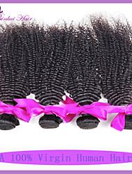 grau 7a peruano encaracolado Kinky 3pcs cabelo virgem / lot cabelo virgem peruano não transformados encaracolado weave