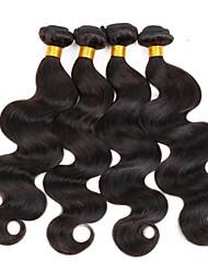 3 st / lot 8-30inches brasilianskt jungfru hår vågigt 100% obearbetade brasilianska människohår väva buntar