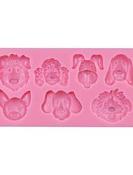 Dogs Silicone Fondant Cake Molds Baking Fondant Mold,Silicone Mould for Soap,Cake Decoration Fondant Mold SM-065
