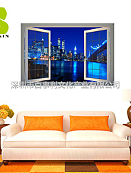 3D Wall Stickers Wall Decals, City Lights Decor Vinyl Wall Stickers