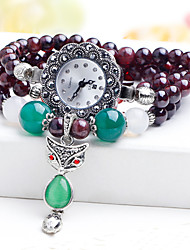 Women's Watch Natural garnet crystal bracelet watches Vintage diamond table fashion female students Cool Watches Unique Watches