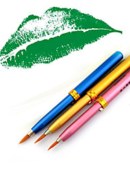 1Pcs Portable Metal Shell Telescopic Brush / Lip Pencil Lip Contour Make More Clear Color Random