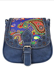 Women PU Doctor Shoulder Bag - Blue