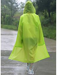 hombres y mujeres eva translúcida adultos de moda al aire libre en capa de la manera impermeable pie poncho con capucha chaqueta