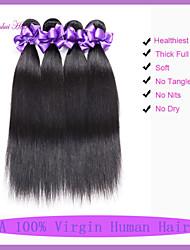 """cabelos lisos malaio 3pcs baratos feixes de cabelo humano em linha reta 8 """"-30"""" malaio cabelo reto virgem"""