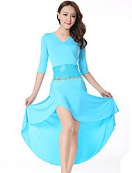 Vestidos ( Preto / Azul / Vermelho , Renda / Modal , Dança do Ventre ) - de Dança do Ventre - Mulheres