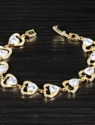 Send Love Ms Fashion Elegant 18 K Gold Zircon Bracelets