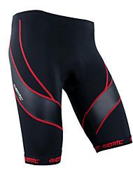 Bermudas Acolchoadas Para Ciclismo Homens / Unissexo Respirável / Tapete 3D / Tiras Refletoras Moto Shorts / Camisa/Fietsshirt Terylene