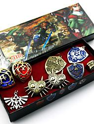 Joyas Inspirado por The Legend of Zelda Cosplay Anime/Videojuego Accesorios de Cosplay Collares / Broche Azul Aleación Hombre