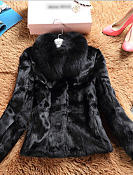 Women Rabbit Fur Top , Belt Not Included