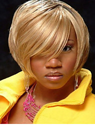 moda lado doce cor loira loira comprimento curto peruca de cabelo sintético