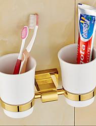 Suporte para Escova de Dentes / Gadget de Banheiro Ti-PVD De Parede 23cm*8cm*12cm(9*3.1*4.7inch) Latão Neoclássico