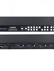 HDMI Matrix 4X4 Mixed Inputs Seamless Matrix Switcher VGA HDMI CVBS Input RS232 with Remote Control EDID PIP
