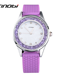 Women's Fashion Watch Casual Watch Quartz Water Resistant / Water Proof Silicone Band Purple Brand SINOBI