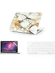 "3 in 1  Fashion  Marble  Cover Case+ Keyboard Cover+ Screen Protector  for Macbook Air 11"" Retina 13""/15"""