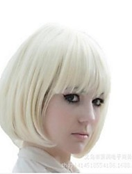 New Popular Kanekalon Short Straight BOB Sexy Stylish Heat Resistant Synthetic Hair Wig Creamy White Blonde