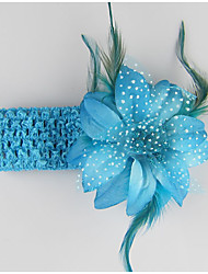 Kid's Feather Colorful Flowers Headband Random Color(3 Month-3Years Old)