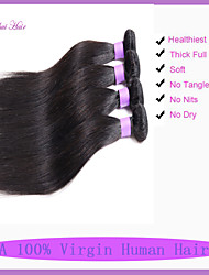 brésilienne de cheveux vierge droite 3pcs beaucoup brazillian cheveux raides 8-30in 300g vierge armure de cheveux brésiliens