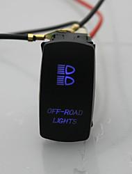laser de 5pin iztoss switch off-road luz roqueiro on-off levou luz 20a 12v azul com fios de instalar