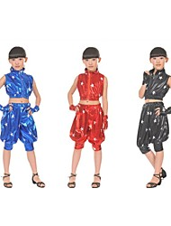 Jazz Outfits Unisex Performance Spandex Pattern/Print / Pockets 4 Pieces Black / Blue / Red