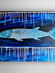 Oil Painting  Abstract Fish Hand Painted Canvas with Stretched Framed Ready to Hang