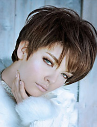 Beautiful And Elegant  Brown Short  Syntheic  Wig Extensions Women Lady Style