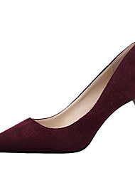 Women's Shoes Velvet Stiletto Heel Heels Heels Wedding / Dress Black / Pink / Red / Gray / Orange / Burgundy
