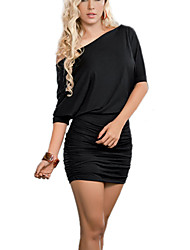 Women's Sexy/Bodycon/Party Dress Simple Club Dress (Spandex/Elastic)