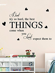AWOO® Best Things Wall Sticker DIY Home Decorations Quotes Vinyl Wall Decals Wall Mural Art
