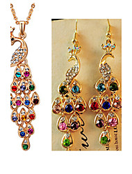 MISSING U Women Vintage / Party Alloy / Rhinestone / Gemstone & Crystal Necklace / Earrings Jewelry Sets