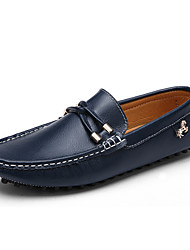 Men's Shoes Casual Leather Loafers Black / White / Navy