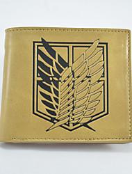 Fashion Advancing Titans Cartoon Wallet Short Students Leather Wallets Men'S Wallet Women'S Wallet