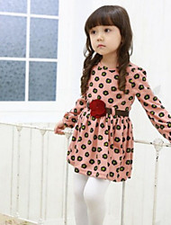 Girl's Pink / Yellow Dress Cotton Spring / Fall