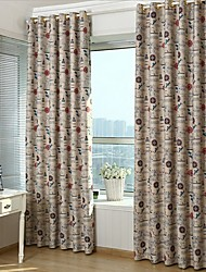 Two Panel European Style Printing Children Lovely Cartoon Sitting Room Bedroom Curtains