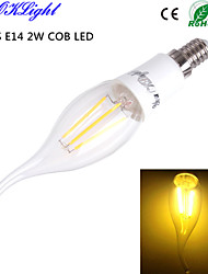 4W E14 LED лампы в форме свечи CA35 4 COB 260 lm Тёплый белый Декоративная AC 110-130 / AC 85-265 / AC 220-240 V 1 шт.